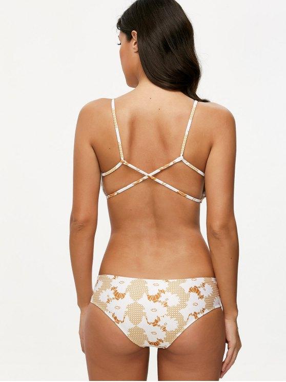 Crossover Printed Bikini Set - COLORMIX L Mobile
