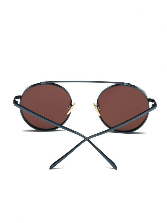 Chunky Frame Round Mirrored Sunglasses - ICE BLUE  Mobile