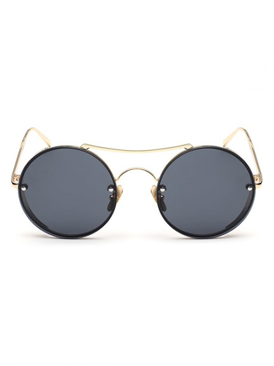 Chunky Round Frame Sunglasses - BLACK  Mobile