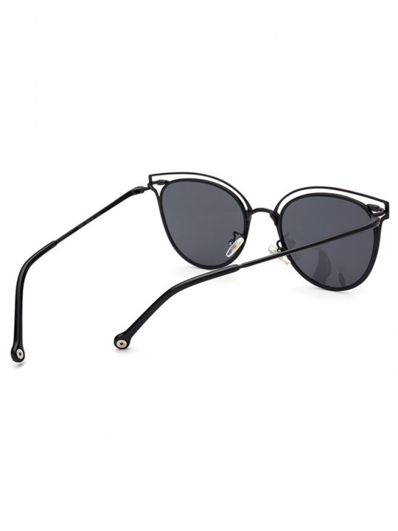 Double Rims Cat Eye Sunglasses - BLACK  Mobile