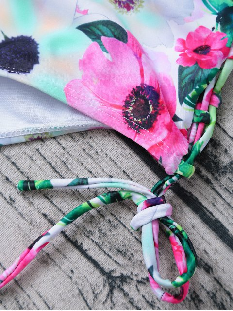 outfits Floral Print Bow Bikini - FLORAL M Mobile
