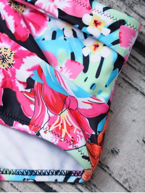 fancy Printed High Rise Bikini - MULTICOLOR S Mobile