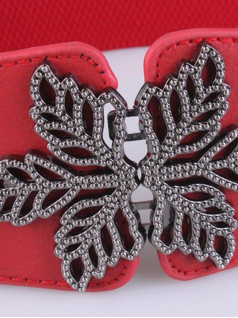 unique Vintage Floral Elastic Belt - RED  Mobile