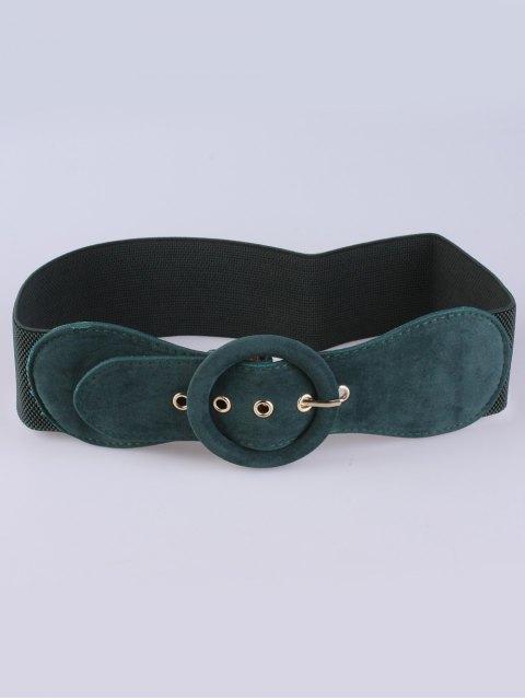 women Pin Buckle Elastic Belt - GREEN  Mobile