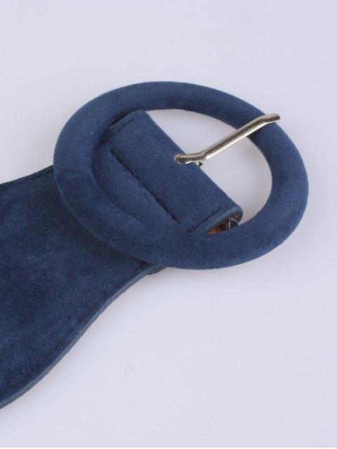 women's Pin Buckle Elastic Belt - BLUE  Mobile
