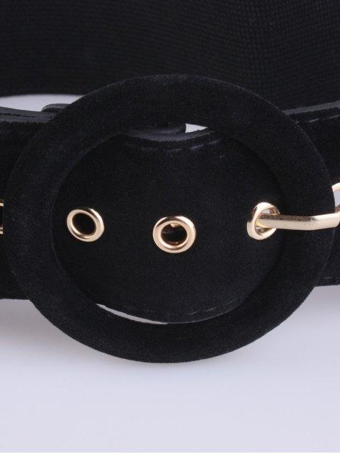 ladies Pin Buckle Elastic Belt - BLACK  Mobile
