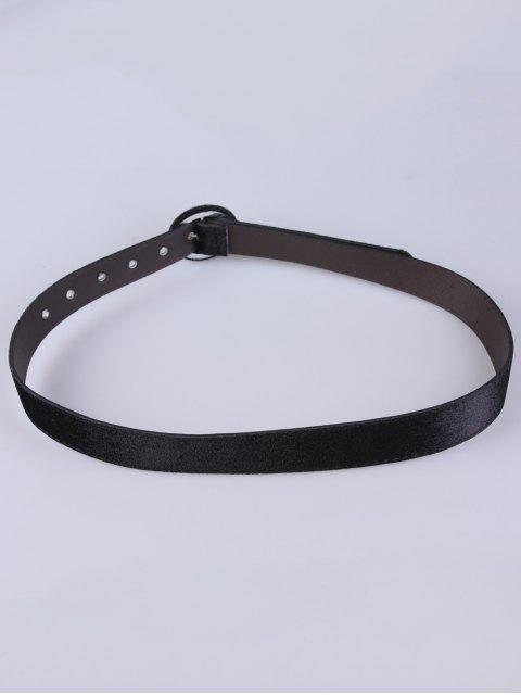 best Faux Leather Velvet Belt - BLACK  Mobile