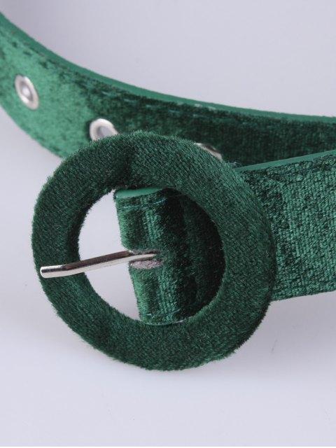 new Faux Leather Velvet Belt - GREEN  Mobile