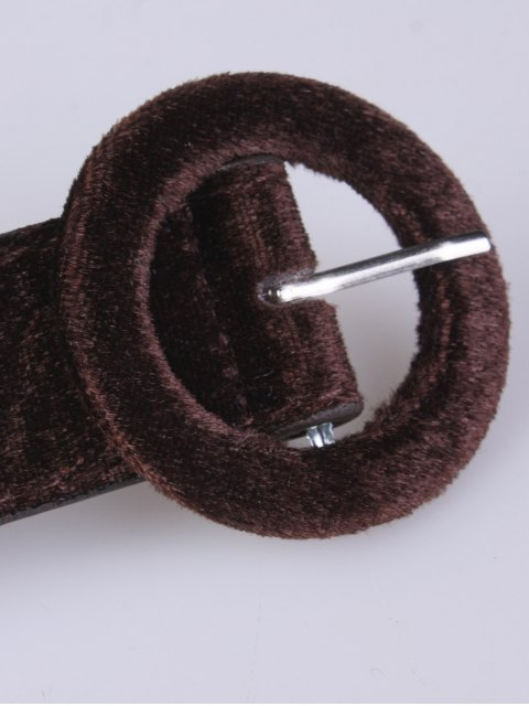 outfits Faux Leather Velvet Belt - COFFEE  Mobile