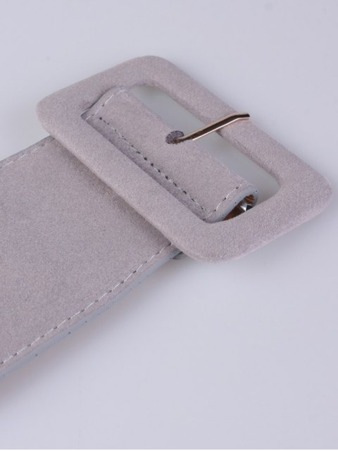 chic Wide Elastic Belt - GRAY  Mobile