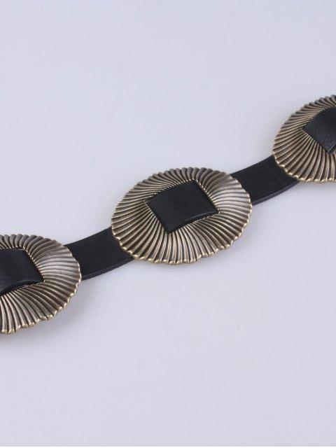 affordable Scallop Elastic Belt - BLACK  Mobile