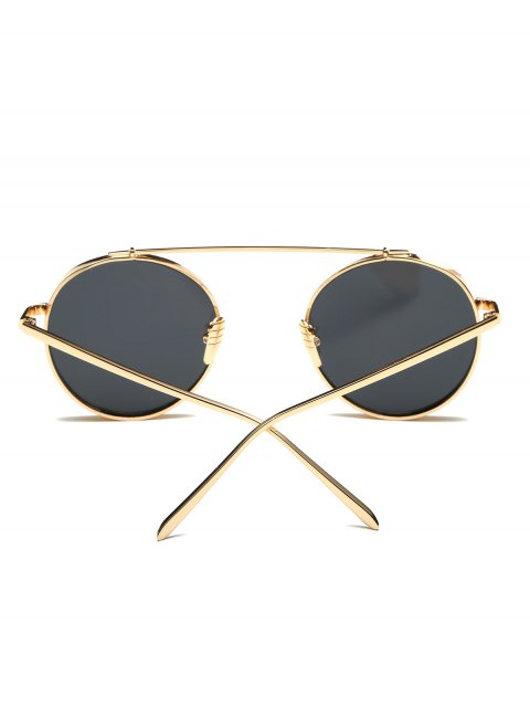 lady Chunky Frame Round Sunglasses - GOLDEN  Mobile