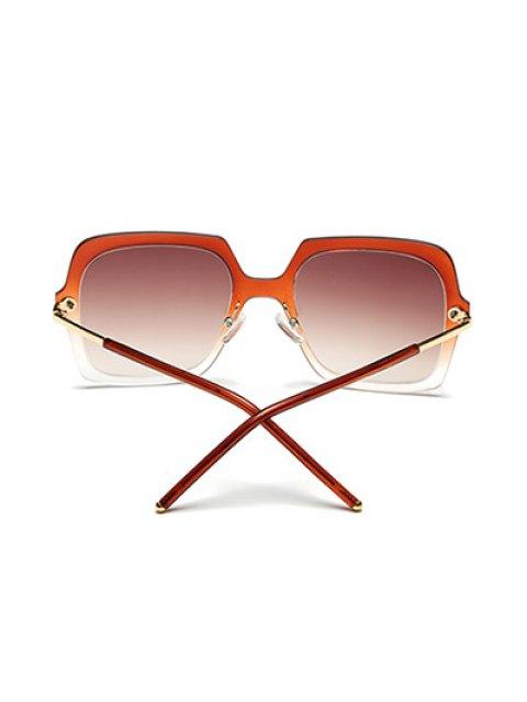 online Ombre Rims Square Sunglasses - TEA-COLORED  Mobile