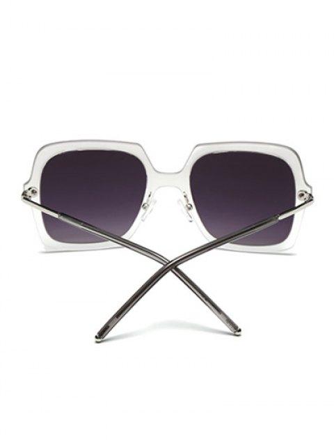 hot Ombre Rims Square Mirrored Sunglasses - SILVER  Mobile