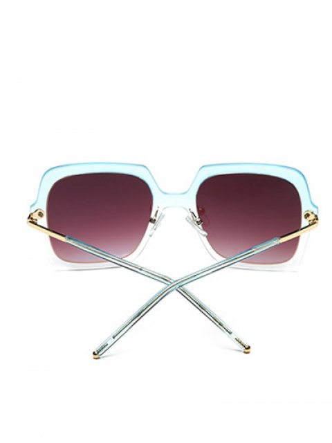 outfit Ombre Rims Square Mirrored Sunglasses - ICE BLUE  Mobile