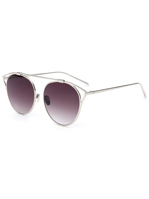 outfit Hollow Out Metal Cat Eye Sunglasses - DEEP PURPLE  Mobile