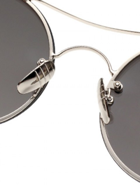 affordable Chunky Round Frame Sunglasses - BLACK  Mobile
