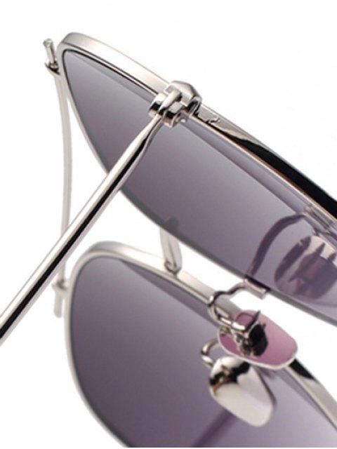 women Crossbar Pilot Sunglasses - SILVER  Mobile