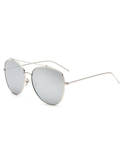 online Crossbar Pilot Mirrored Sunglasses - SILVER  Mobile