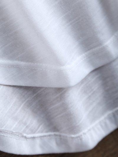 Slit Asymmetrical T-Shirt - WHITE 2XL Mobile