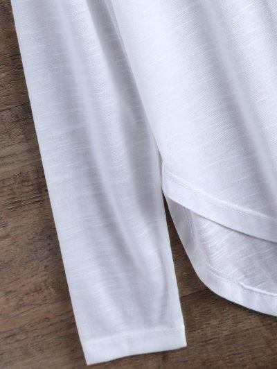 Slit Asymmetrical T-Shirt - WHITE S Mobile