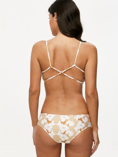 Crossover Printed Bikini Set - COLORMIX M Mobile