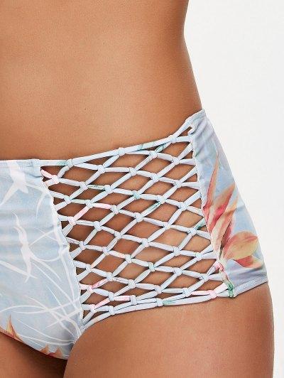 Printed Fishnet Insert High Rise Bikini - COLORMIX S Mobile