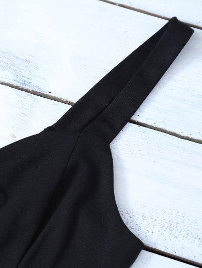 Straps Lace Up Bodycon Mini Dress - BLACK M Mobile