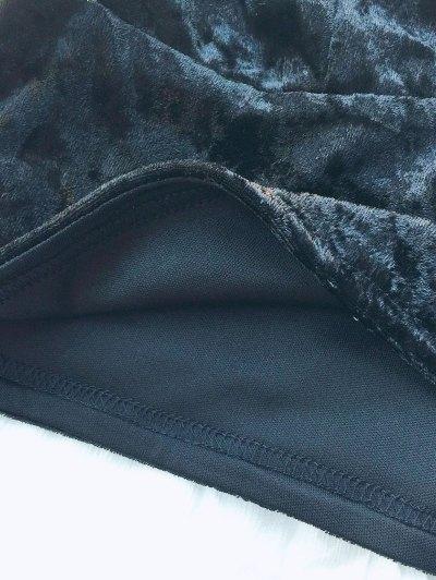Velvet Cami Cropped Top - BLACK S Mobile