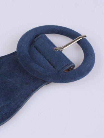 Pin Buckle Elastic Belt - BLUE  Mobile