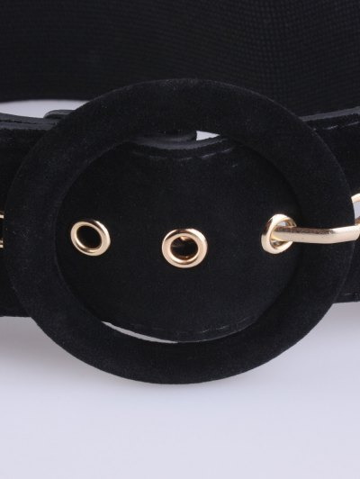 Pin Buckle Elastic Belt - BLACK  Mobile