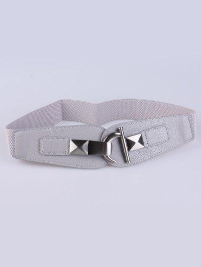 Hook Buckle Elastic Belt - GRAY  Mobile