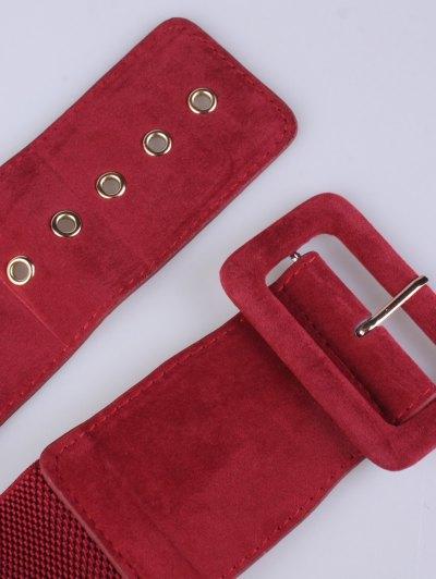 Wide Elastic Belt - RED  Mobile