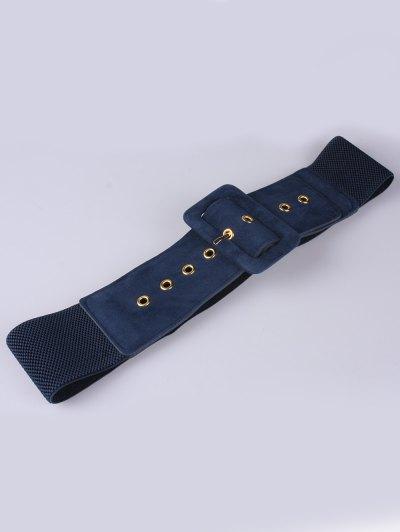 Wide Elastic Belt - BLUE  Mobile