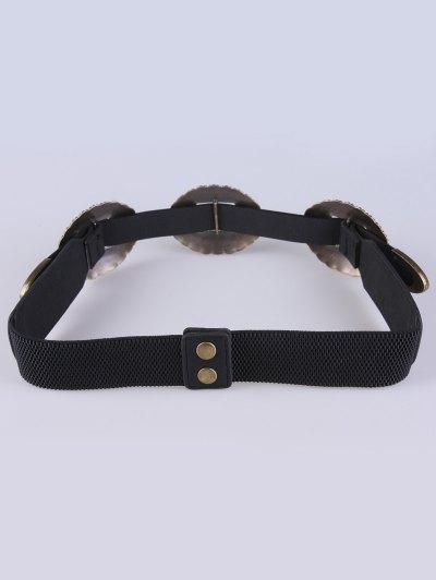 Scallop Elastic Belt - BLACK  Mobile