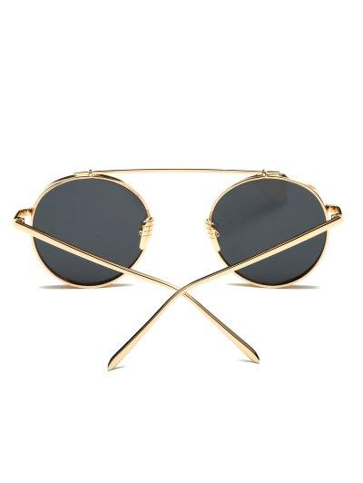 Chunky Frame Round Sunglasses - GOLDEN  Mobile
