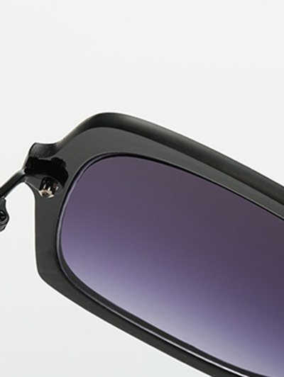 Full Rims Square Sunglasses - BLACK  Mobile
