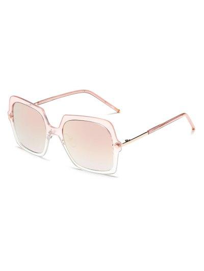 Ombre Rims Square Mirrored Sunglasses - PINK  Mobile