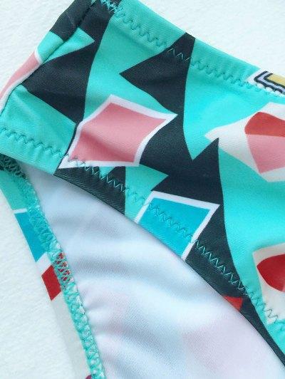 Push Up Geometric Print Bikini Set - COLORMIX XL Mobile