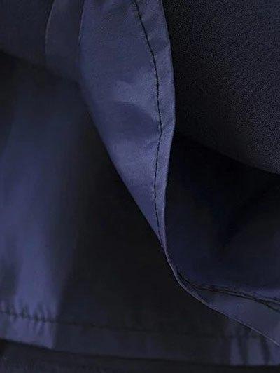 A Line Wrap Slip Dress - PURPLISH BLUE M Mobile