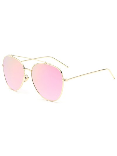 Crossbar Pilot Mirrored Sunglasses - PINK  Mobile