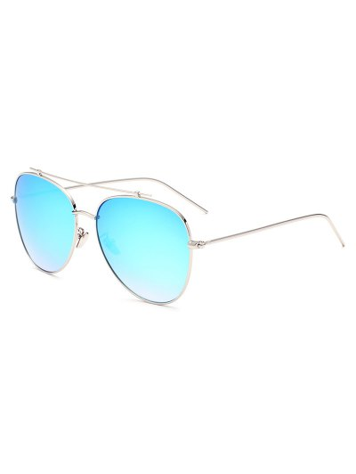 Crossbar Pilot Mirrored Sunglasses - ICE BLUE  Mobile