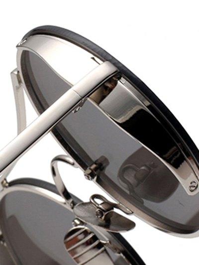 Chunky Round Frame Sunglasses - TEA-COLORED  Mobile