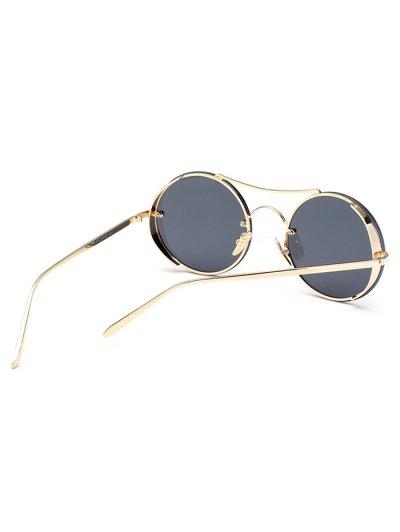 Chunky Round Frame Sunglasses - BLACK  Mobile