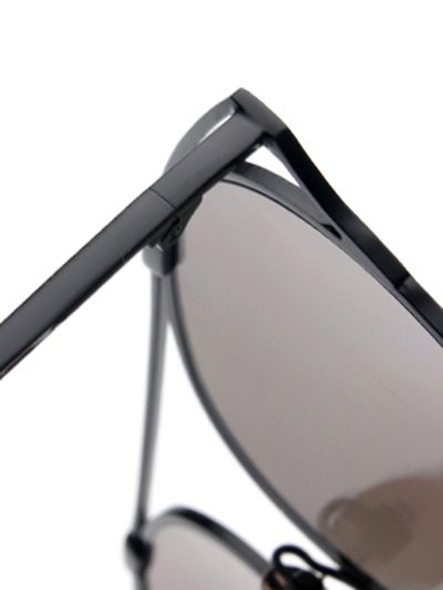 Hollow Out Metal Cat Eye Mirrored Sunglasses - ICE BLUE  Mobile