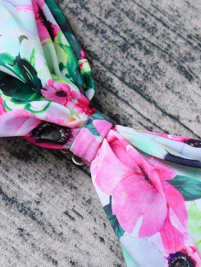 Floral Print Bow Bikini - FLORAL L Mobile