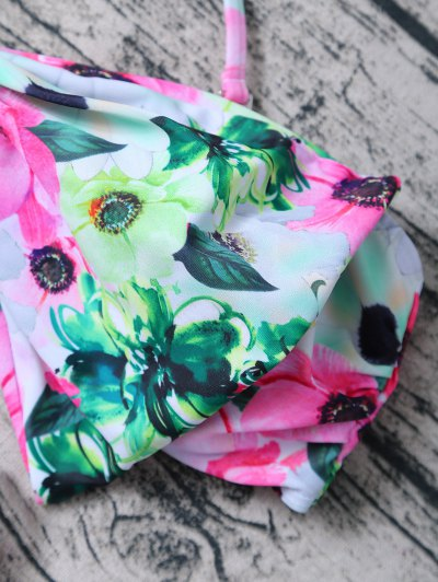 Floral Print Bow Bikini - FLORAL S Mobile