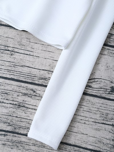 Scalloped Three Piece Swimwear - WHITE M Mobile