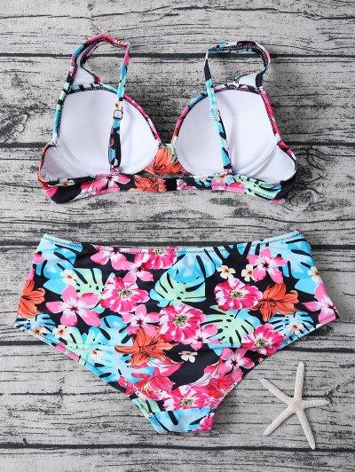 Printed High Rise Bikini - MULTICOLOR M Mobile