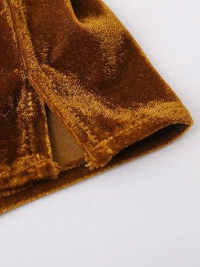 Velvet Patch Pocket Shirt - GOLD BROWN L Mobile